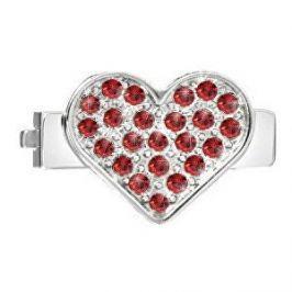 Morellato Srdíčko s červenými krystaly na náramky Sensazioni SAJT06