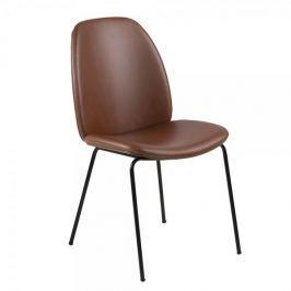 Design Scandinavia Jídelní židle Meredith (SET 2 ks), koňaková