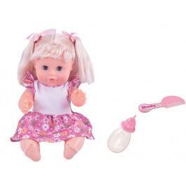Alltoys Panenka Bambolina s hřebínkem a kojeneckou lahvičkou 30 cm