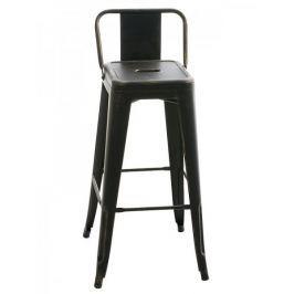 BHM Germany Barová židle kovová Mason, antik černá