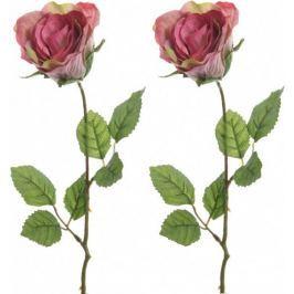 Kaemingk Růže růžová 45 cm, 2 ks