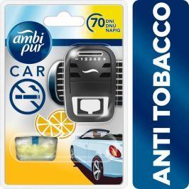 Ambi Pur Car Anti Tobacco Osvěžovač vzduchu ve startovací sadě 7 ml