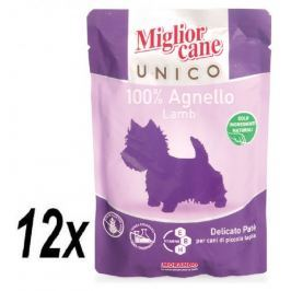 Miglior Cane Unico kapsička jehněčí 12 x 100g