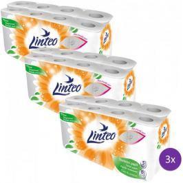 LINTEO Toaletní papír bílý 3 x 16 rolí