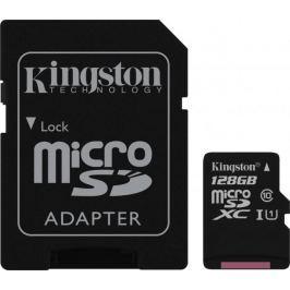 Kingston microSDXC 128GB 45MB/s UHS-I + SD adaptér (SDC10G2/128GB)