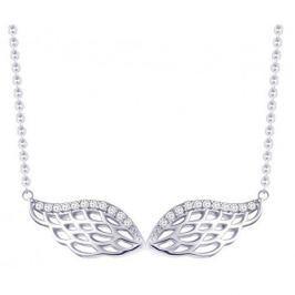 Preciosa Stříbrný náhrdelník se zirkony Angel Wings 5217 00 stříbro 925/1000