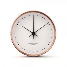 Georg Jensen Nástenné hodiny HK malé, meď/bílá, 10 cm