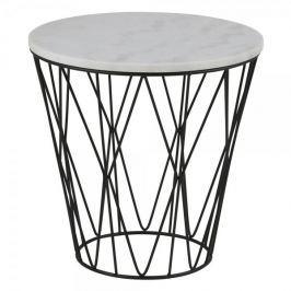 Design Scandinavia Konferenční / noční stolek s mramorovu deskou Gone, 50 cm