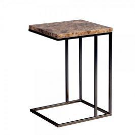 Artenat Odkládací stolek Ragnar, 43 cm, tm. mramor/černá
