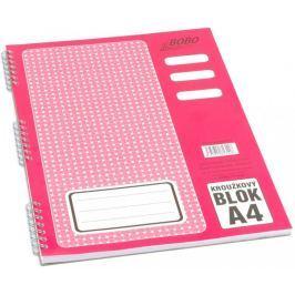 Blok kroužkový s boční spirálou BOBO A4 linkovaný 50 listů