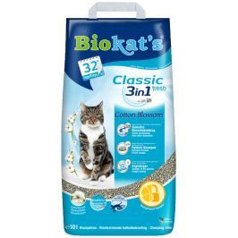 Gimpet Biokat's Classic Fresh 3in1 Cotton Blossom 10 L