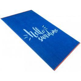Carbotex Plážová osuška Hello Sunshine Modrá 90x170 cm