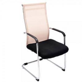 BHM Germany Jednací židle s područkami Rendy, krémová
