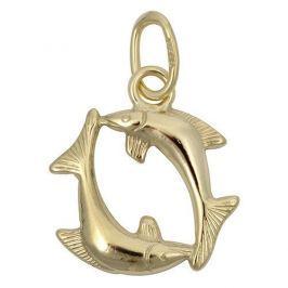 Brilio Zlatý přívěsek Ryby 241 001 00809 - 0,35 g zlato žluté 585/1000