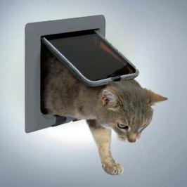Trixie Průchozí dvířka FREECAT DeLUX šedé