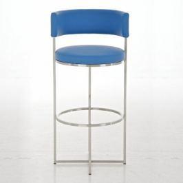 BHM Germany Barová židle s nerezovou podnoží Lenny, modrá