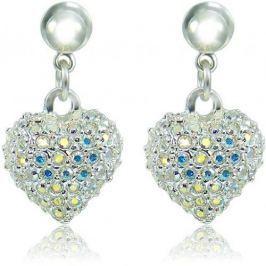 MHM Náušnice Srdce M4 Crystal AB 3297