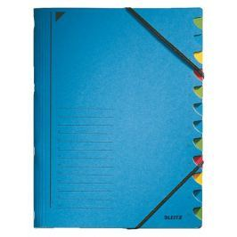 Třídící desky s gumičkou Leitz A4, 12 listů, modré