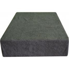 Greno Froté prostěradlo 140 x 200 cm tmavě šedá