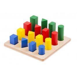 Montessori pomůcky Žebřík – geometrická tělesa