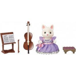 Sylvanian Families Cellistka hedvábná kočka 6010