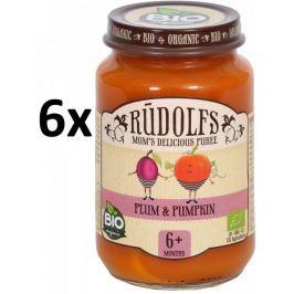 RUDOLFS Dětské pyré švestka + dýně - 6x190 g