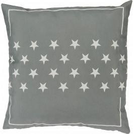 Toro Šedý polštář 40x40 cm s bílými hvězdičkami