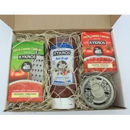 Řecká drcená rajčata, kečup a protlak v dárkové kazetě