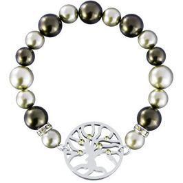Preciosa Ocelový náramek s perlami Olive 7299 53