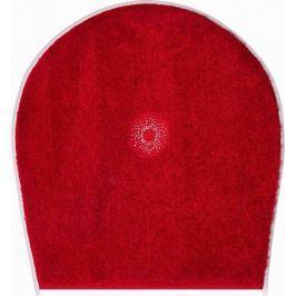 GRUND s krystaly SWAROVSKI - exkluzivní česká koupelnová předložka,  CRYSTAL LIGHT 47x50 cm, červená