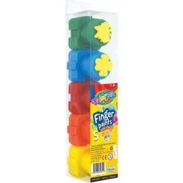 Barvy prstové Colorino s razítky 5 barev