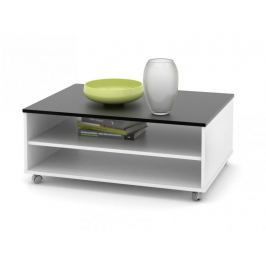Konferenční stolek ZU05, černá/bílá