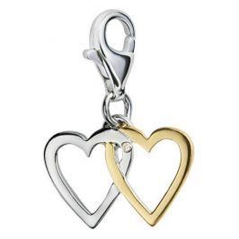 Hot Diamonds Zamilovaný přívěsek s diamantem Love Luck Happiness DT025 stříbro 925/1000