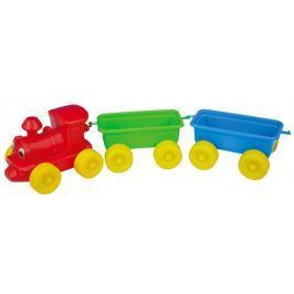 Teddies Vlak + 2 vagóny plast