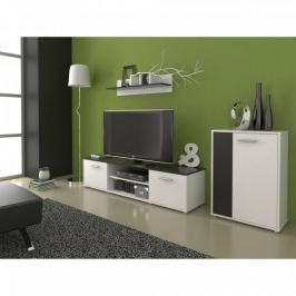 Obývací stěna Zuzana 3, černá/bílá