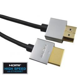 PremiumCord Slim HDMI High Speed + Ethernet kabel, 2 m