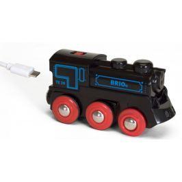 Brio WORLD 33599 Dobíjecí lokomovita s USB kabelem