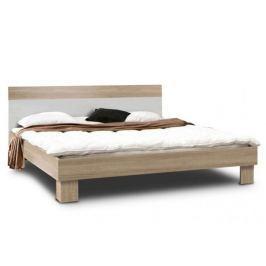 GOLDSTAR, postel 160x200 cm, dub sonoma/bílá