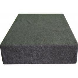 Greno Froté prostěradlo 220 x 200 cm tmavě šedá