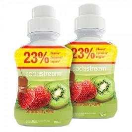 Sodastream Příchuť Green IceTea Kiwi/Jahoda 2x 750 ml