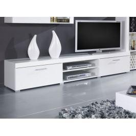 Televizní stolek SAMMBA, bílá/bílý lesk