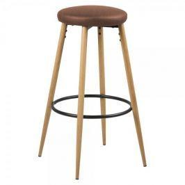 Design Scandinavia Barová židle Heros (SET 2 ks), koňaková