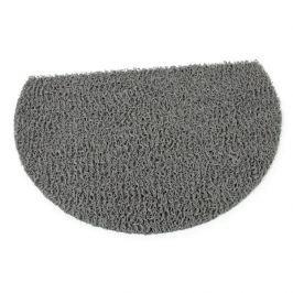 FLOMAT Šedá protiskluzová sprchová půlkruhová rohož Spaghetti - 59,5 x 40 x 1,2 cm