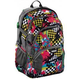 CoocaZoo Školní batoh JobJobber2, Checkered Bolts