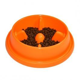 Argi Plastová miska proti hltání s protiskluzem 25,5 x 23 x 6,5 cm oranžová