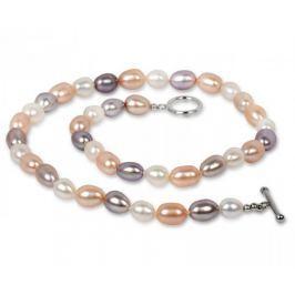 JwL Luxury Pearls Náhrdelník z pravých multibarevných perel JL0135 stříbro 925/1000