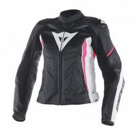Dainese bunda dámská AVRO D1 LADY vel.42 černá/bílá/růžová, kůže