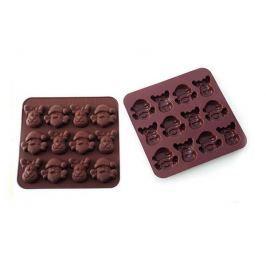 Silikomart Silikonová forma na čokoládu sob a santa