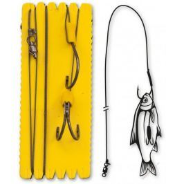Black Cat Sumcový Návazec Bouy And Boat Ghost Double Hook Rig 140 cm 6/0