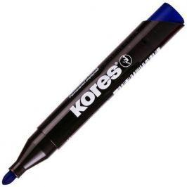 Značkovač Kores permanent kulatý hrot modrý